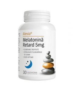 Melatonina Retard 5 mg, 30 comprimate Alevia