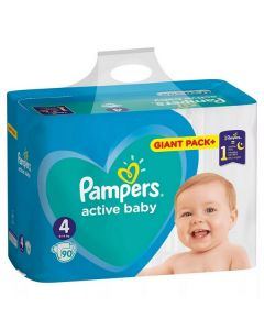 Pampers Active Baby 4 (9-14 kg) 90 bucati