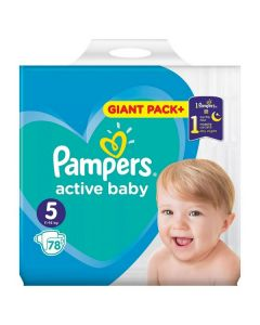 Pampers Active Baby 5 (11-16 kg) 78 bucati