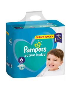 Pampers Active Baby 6 (13-18kg) 68 bucati