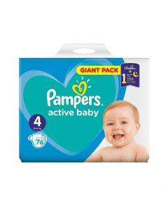 Pampers Active Baby Nr. 4 (8-14kg) x 76 buc