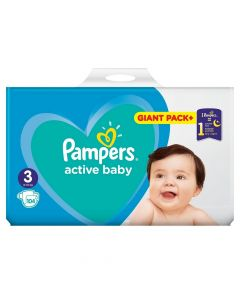 Pampers Nr.3 Active Baby x 104 bucati