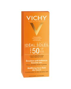 Vichy Ideal Soleil Emulsie matifianta Dry Touch SPF50