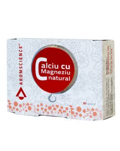 Calciu cu magneziu natural 20 capsule DVR Pharm